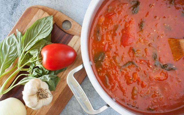 soup vegetarian roasted tomato basil soup